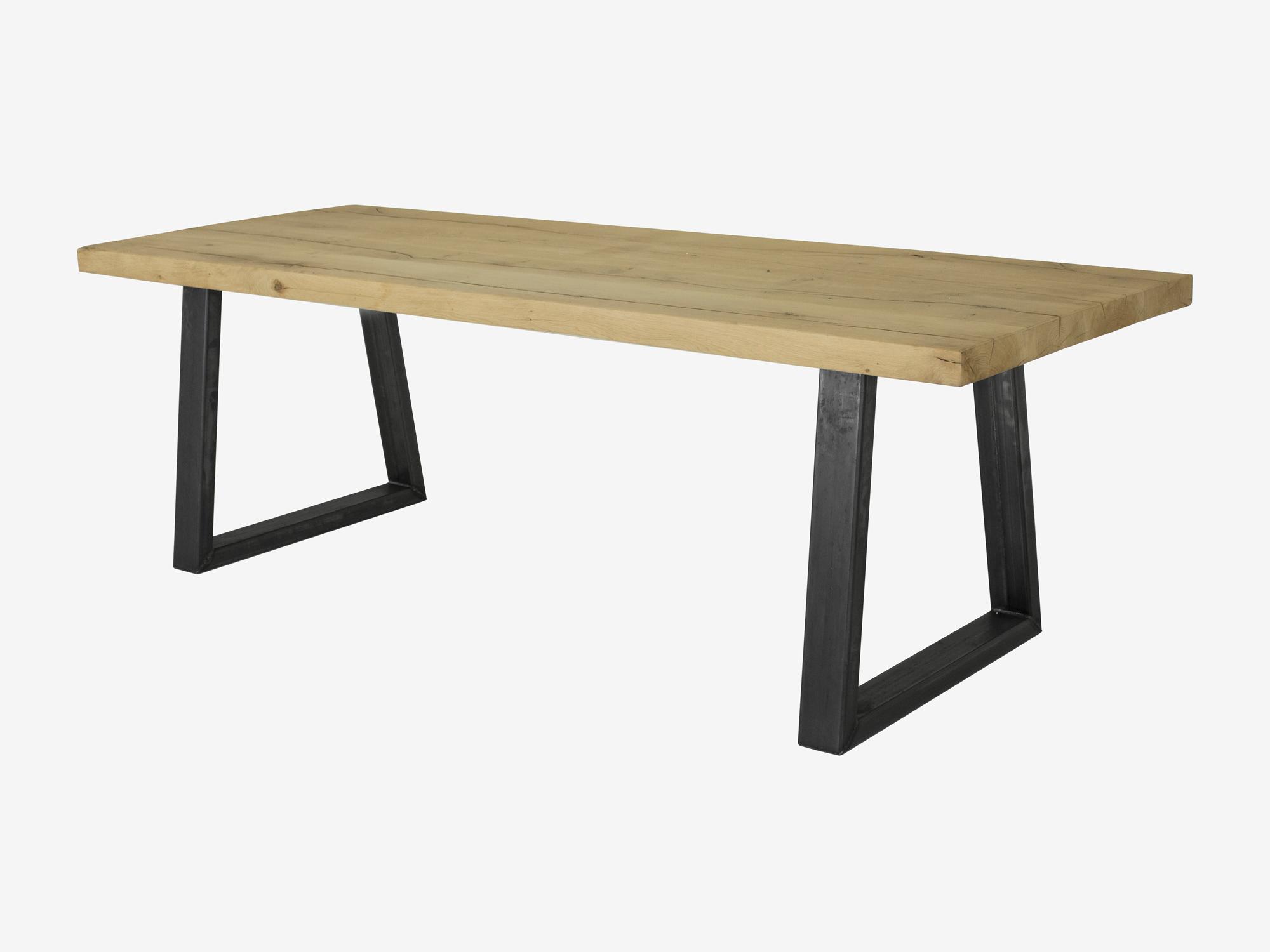 Eettafel levi eikenhout robuust fØrn maatwerk meubelen