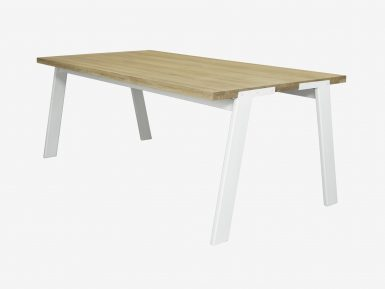 industriele eikenhouten tafel Glenn witte achtergrond