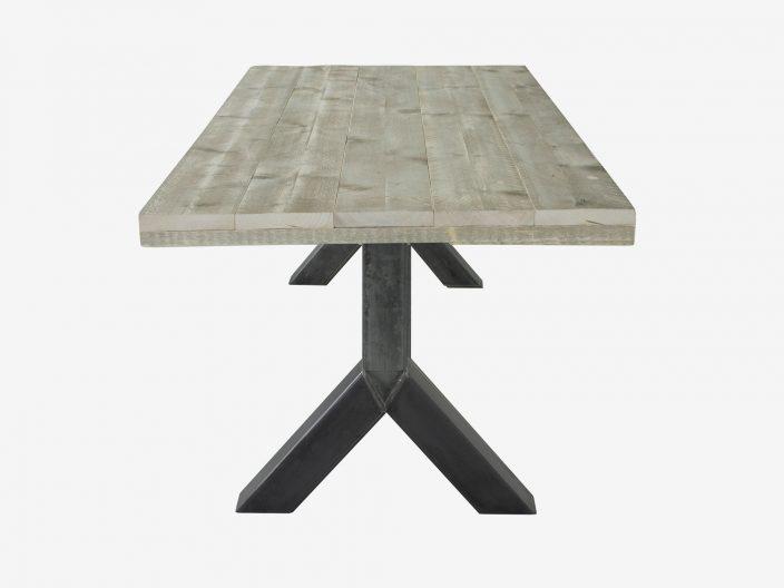 steigerhouten tafel Yaren witte achtergrond