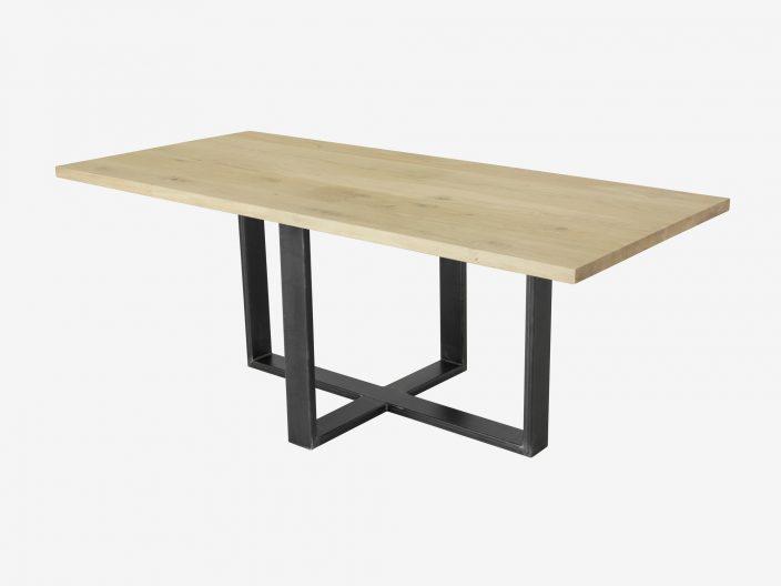 industriele eikenhouten tafel SAM witte achtergrond1
