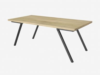 industriele eikenhouten tafel Seven witte achtergrond1
