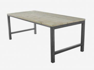 industriele steigerhouten tafel Olivia witte achtergrond 1