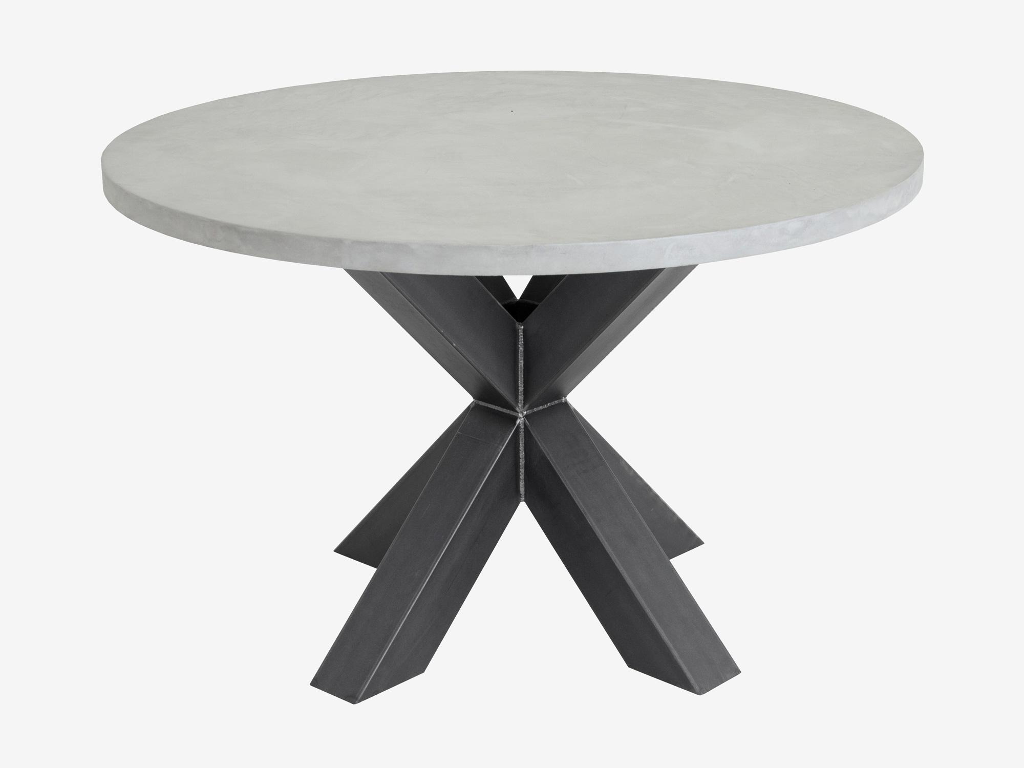 Ronde betonlook tafel Ozzy op maat gemaakt