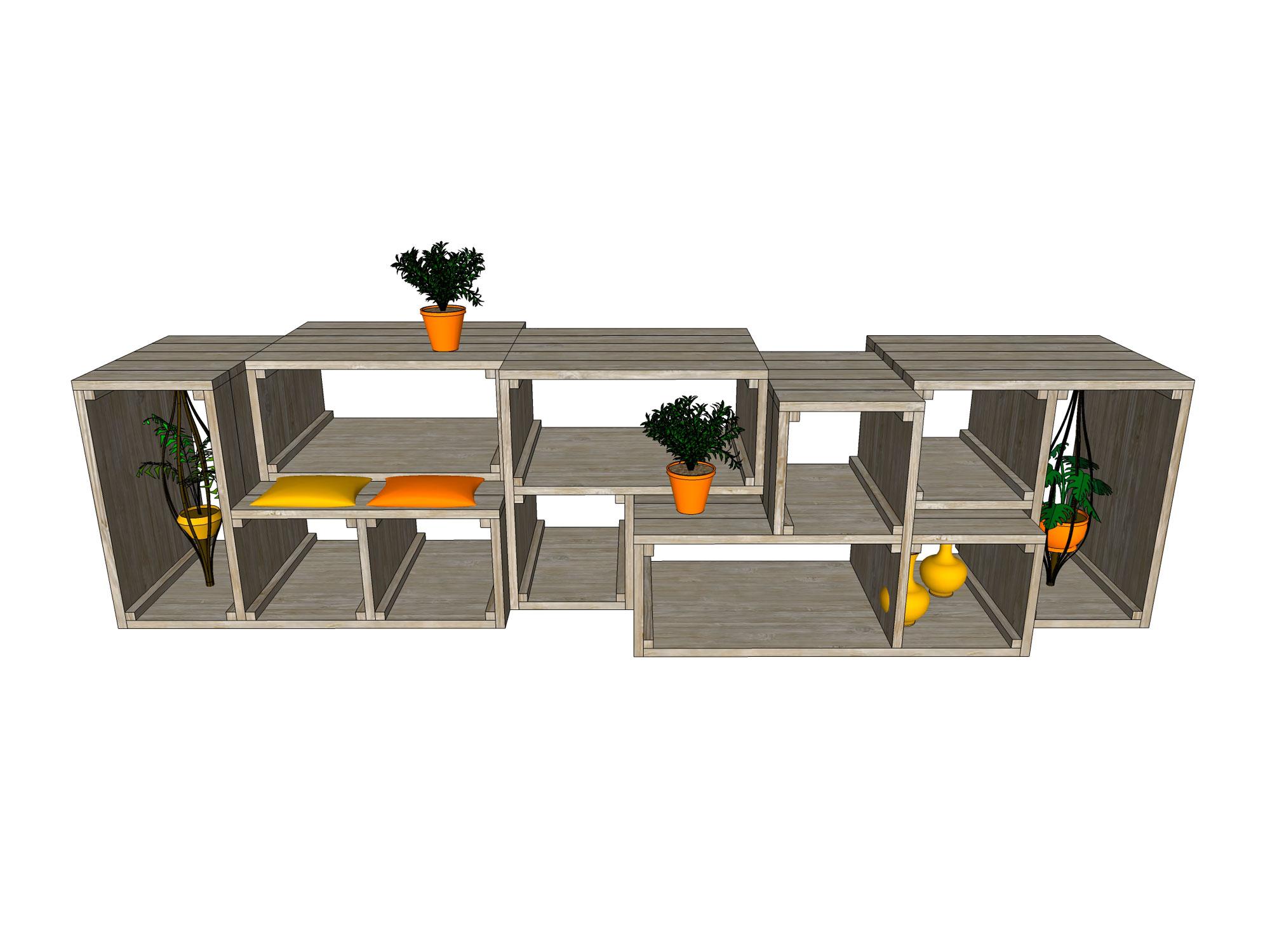 Kantoorkasten als roomdivider SRPRS.me