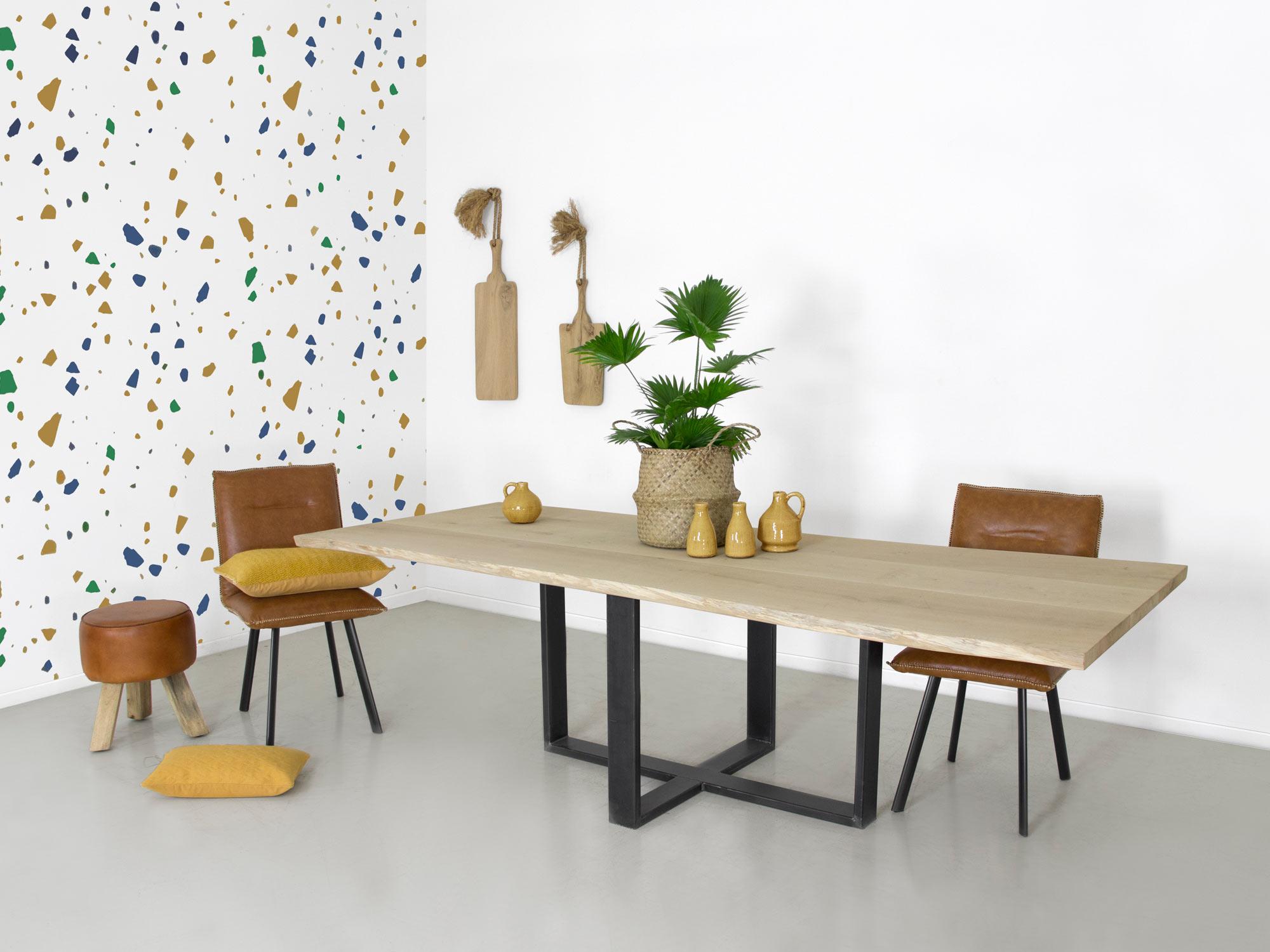 Boomstam tafel duc op maat gemaakt f rn meubelen for Tafel op maat