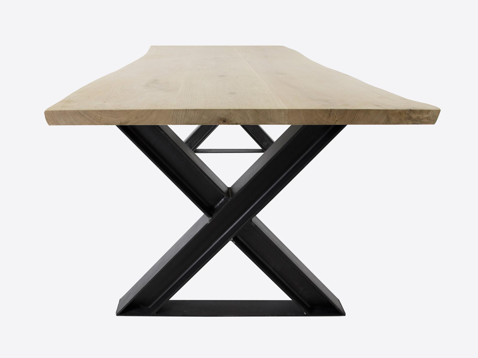 Boomstam tafel xavi op maat gemaakt f rn meubelen for Stalen onderstel tafel laten maken